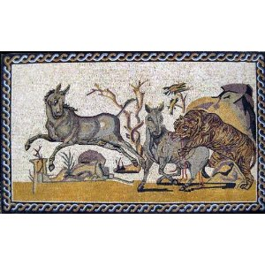 "40x65"" Hunting Prey Art Tile Wall Floor Home Decor"