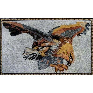 Lovely Art Tile Eagle Mosaic Wall Mural