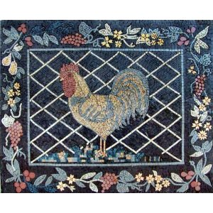Rooster Marble Mosaic Stone Art Tile Wall