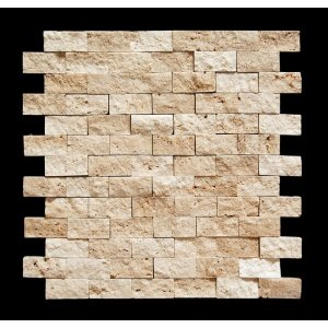 Oracle Light 1 X 2 Split Face Travertine Mosaic