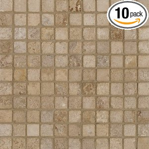Arizona Tile Tumbled Travertine Tile Mosaic Mesh
