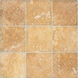Arizona Tile Tumbled Travertine Tile, 4-by-4-Inch