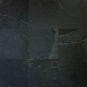 Montego Sela Mont Black 12 X 12 Honed Slate Tile